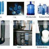 700grams 5gallon bottle semi-automatic molding machine/3gallon PET bottle making plant/PET bottle jar blowing machine