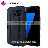 IVYMAX china cellphone accessories wholesale for samsung galaxy S7 edge hybrid holster                                                                         Quality Choice