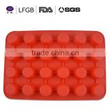 factory price promotional ball shaped silicone cake mould with FDA/LFGB