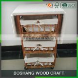 Cheap wicker drawer furniture with folding ironing board