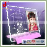 Hot Sale 3d New Design Crystal Glass High Quality k9 Crystal Glass With Plastic Base Frame Photo Of Love Daughter Picture