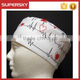 H-19 Man cap and hat black or white hat with ekg Surgical Cap