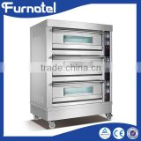China supplier ShineLong FBK-306DE commercial hotel kitchen equipment gas 3 Decks bakery oven                                                                         Quality Choice