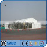 White PVC Car Show Tent with Glass Door Glass wall ABS Panel wall