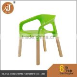 Elegant Plastic Material Solid Beech Wooden Dining Chair with Armrests