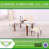 Beautiful color foldable wood dining table,small extendable dining table                                                                         Quality Choice