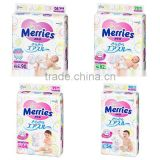 High quality Super soft Japanese Kao Merries Air through Tape Baby Nappy Diapers Pants Unisex Cute design Made in Japan