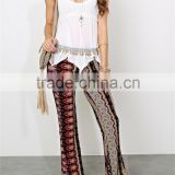 Summer Girl latest fashion lace V-neckline tube woven white crochet top- SYK15260