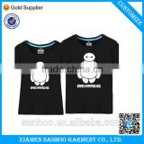 High Quality Wholesale Baymax Custom Printed Couple T-Shirts Fashion Round Neck                                                                         Quality Choice