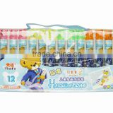 Hot sale 12 / 24 color non-toxic washable water set color pen for kids