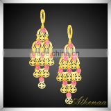 Unique Design Beautiful Pink Diamonds Chandelier Crystal Earring