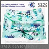 JMZ wholesale OEM swim pants for men polyester swimwear creat your own blue palm tree design new 2015 low moq Alibaba