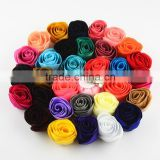 4cm mini fabric craft flower chiffon flower -decorative flower head flower with pin&clip kids DIY hair accessories