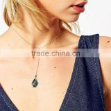 Round Collar Chain Solid Irregular Natural Amethyst Short Pendant Necklace For Party Girls