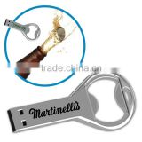 Custom laser engraving logo beer bottle opener usb, promotion bottle opener usb flash drive 8GB, Metal usb bottle opener