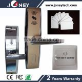 13.56mhz RF hotel door lock system with hotel card, gain power switch, free software