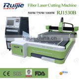 Fiber Laser Cutting Machine RJ1530B 500W/750W/1000W/1500W for metal cutting with Japan YASKAW Servo motor