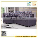 Unique fabric pull out sofa bed design transformer bed with storage
