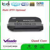 factory direct best price DVB S2 Android TV BOX Hybrid OTT satellite android smart tv receiver