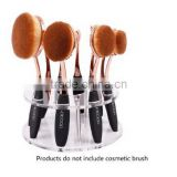Oval Makeup Brush Holder 10 Hole Drying Rack Organizer Cosmetic Shelf Tool (BS-B-0264)