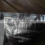 Light reflective aluminum foil fabric canvas,heat resistant tarps for car sunshade