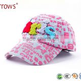 Hot Sale Promotional Custom Sports Cap for Kids Girls and Boys Flat Hat With Embroidered Letters PARIS