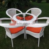 wicker rattan coffee table and chair/ patio tea set/ bistro set