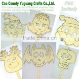 Wood education toy ,Wooden Paint Masks for kid,face mask for poor handwriting