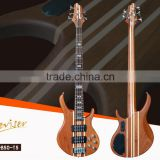 Guitar factory characteristic solid connection sapele+maple 5 strings electric bass