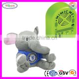 D867 Wholesale Electronic Elephant Stuffed Voice Repeating Plush Animal Toys