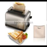 As seen on TV product PTFE Reusable Toaster bag Hot product in Europe Australia Japan USA