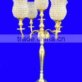 GOLD Crystal Candelabra For Wedding, Crystal Votive Candle Holder For Wedding Centerpiece