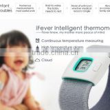 Household Baby Care Intelligent Thermometer, Bluetooth Mobile APP Wearable Children Monitor Electric Thermometer