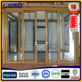 8 MM Clear Tempered glass Aluminium Sliding Windows White Frame