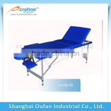 Acrofine heated massage table blue ayurveda Aluminum massage table with durable PVC leather covers
