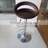 Fashionable ABS Plastic metal Bar Stool high chair wicker chair bar