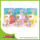 Top sale rabbit cartoon set game soap bubble shooter gun toy