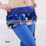 Exotic paillettes belly dance hip scarf belly dance coins belt