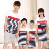 PJ0169AFamily Fashion Love Heart Summer Short-sleeve T-shirt Matching Family Clothing Outfits For mother daughter matching dress