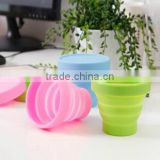Retractable Silicone Folding Cup Telescopiac Collapsible Outdoor Travel Washing Cups Portable Candy Color Mugs Pocket Gadget