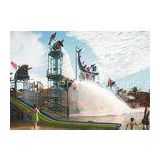 Water Playground Equipment With Fiberglass Spiral Water Slide For water park