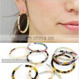 High Quality New Design Acetic Acid Jewelry Women's Acrylic Acetate Hoop Earrings