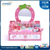 Wooden pretend play makeup set dresser toys for girls