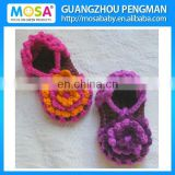 Crochet Baby Girl Sandals ,Newborn Baby Girl Flower Sandals,Summer Girl Crochet Sandals purple Orange