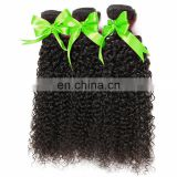 Hot sale machine sew in human hair bundles wholesale brazilian hair black color curly human hair