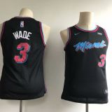 Miami Heat #3 Wade Kids Black Jersey