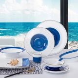 under glazed high-quality style Ceramic animal hand printed Dinner set tableware