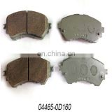 Auto Spare Parts brake pads 04465-0D160 For Japanese car auto car wheel parts brake pads
