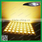Ba9s T10 Festoon 48-5050SMD Warm White DC 12V Super Bright RV Car Panel Interior LED light