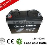 12 volt 100ah Lead Acid Battery for Inverter